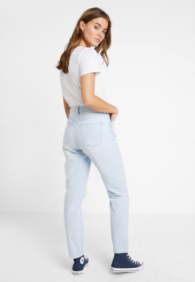 On 90s light Blur MomJeans Cotton Blue Baggy Stone High n0PkwO