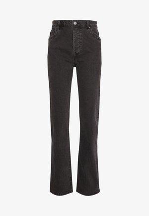 HIGH STRETCH - Jeans straight leg - stonewash black