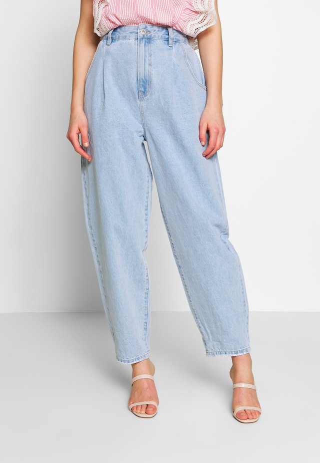 PLEAT  - Flared Jeans - laguna blue