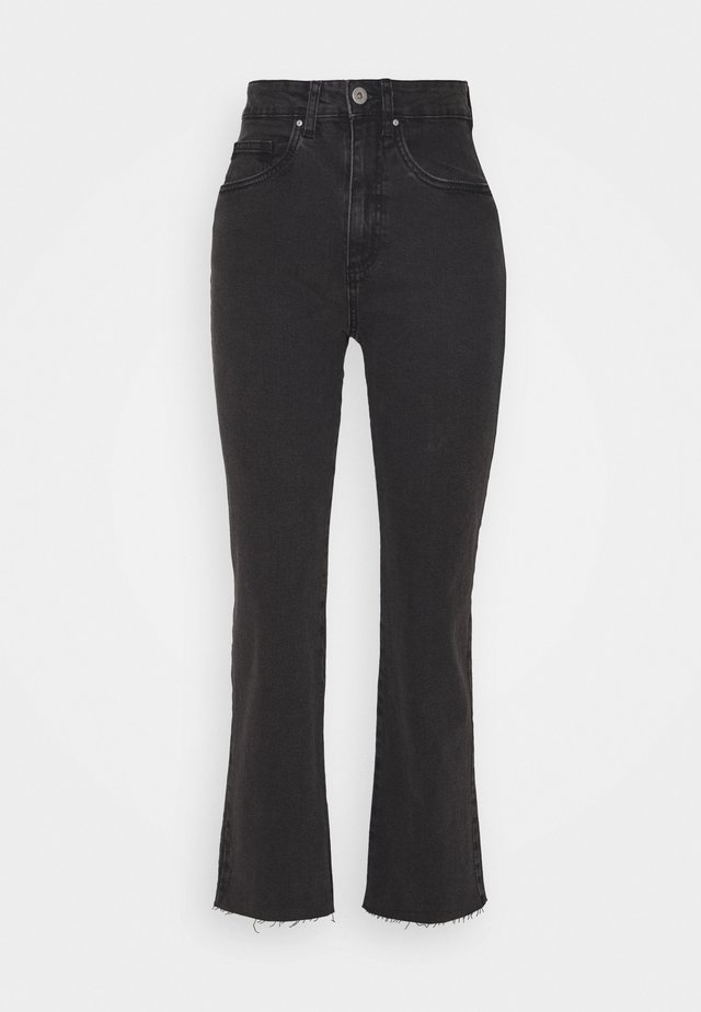 STRETCH  - Jeansy Straight Leg - stonewash black