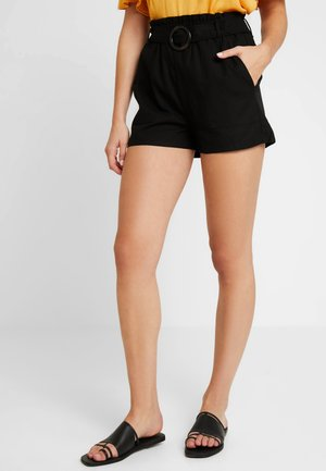 HIGH WAIST - Shortsit - black