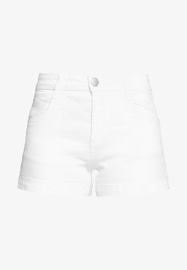 MID RISE CLASSIC STRETCH - Denim shorts - white