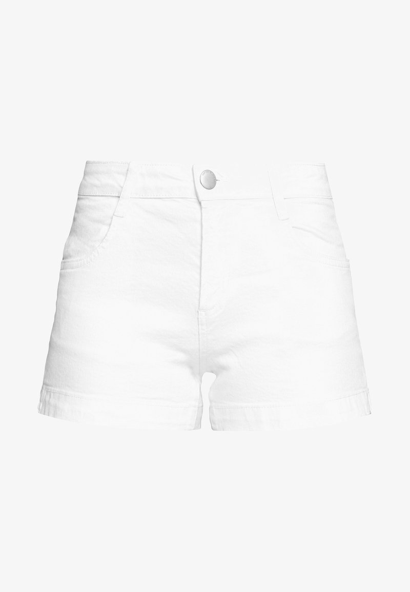 Cotton On - MID RISE CLASSIC STRETCH - Szorty jeansowe - white