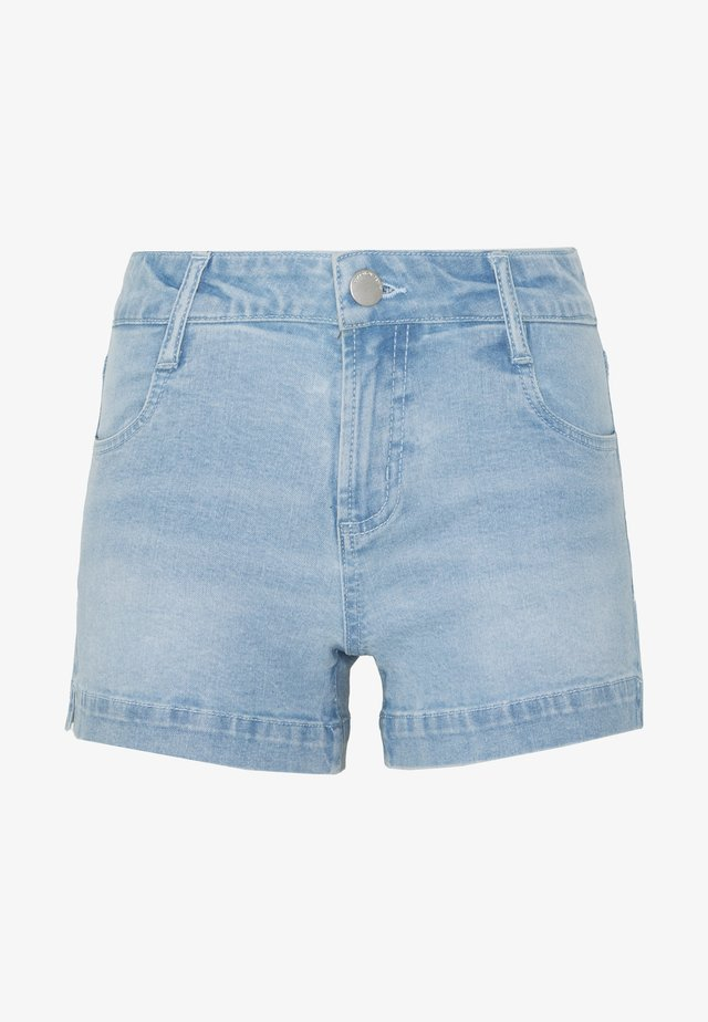 MID RISE CLASSIC STRETCH - Denim shorts - bleach blue