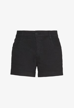 MID RISE CLASSIC STRETCH - Jeansshorts - black