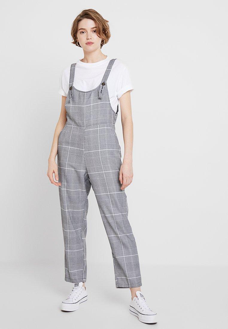 Cotton On - FIONA - Latzhose - black/white