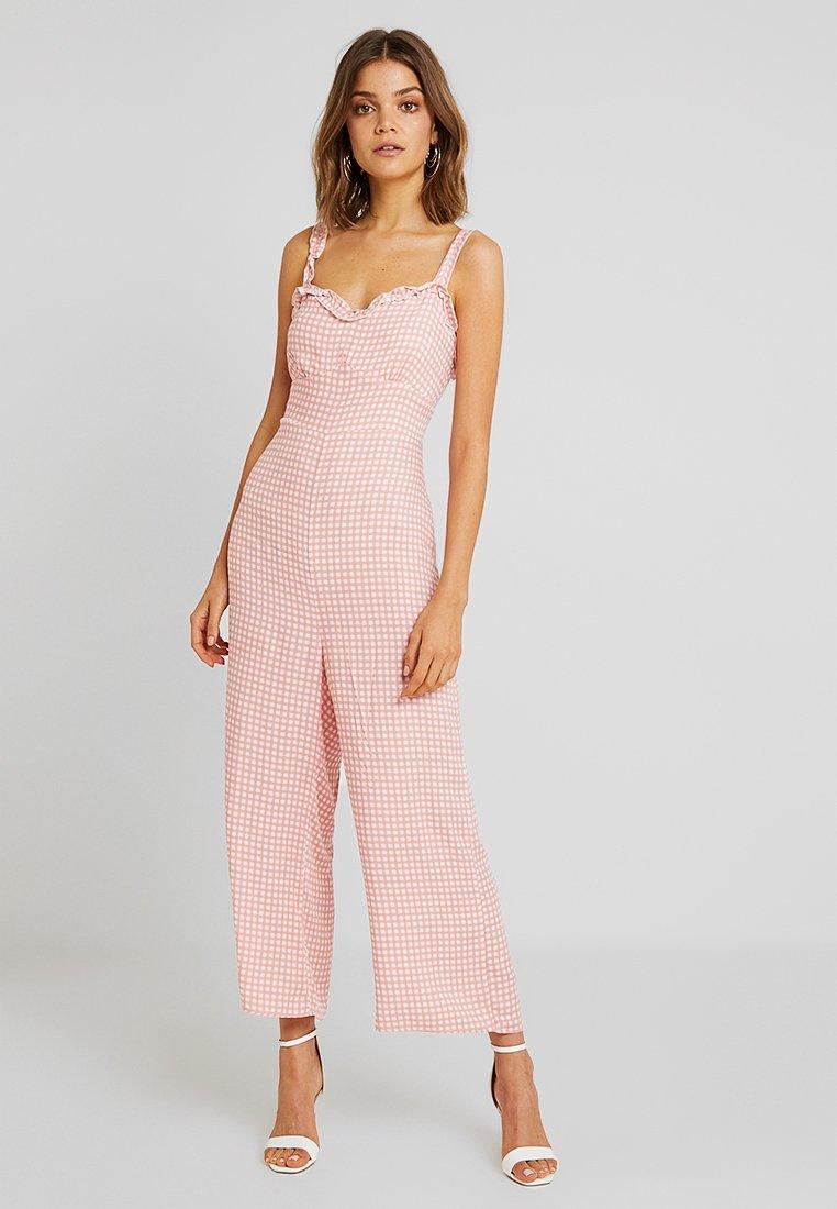 Cotton On - TASH STRAPPY - Jumpsuit - rose tan/white