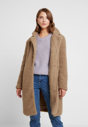 LONGLINE COAT - Winter coat - cinnamon