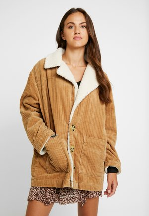 CARLETTE COAT - Classic coat - tan/cream