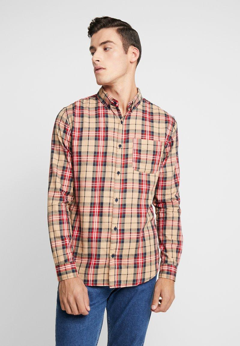Cotton On - BRUNSWICK SLIM FIT - Overhemd - tan/multi