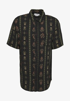 SHORT SLEEVE - Shirt - black/multicoloured