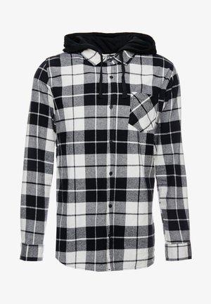 RUGGED HOODED SHIRT - Hemd - white/black