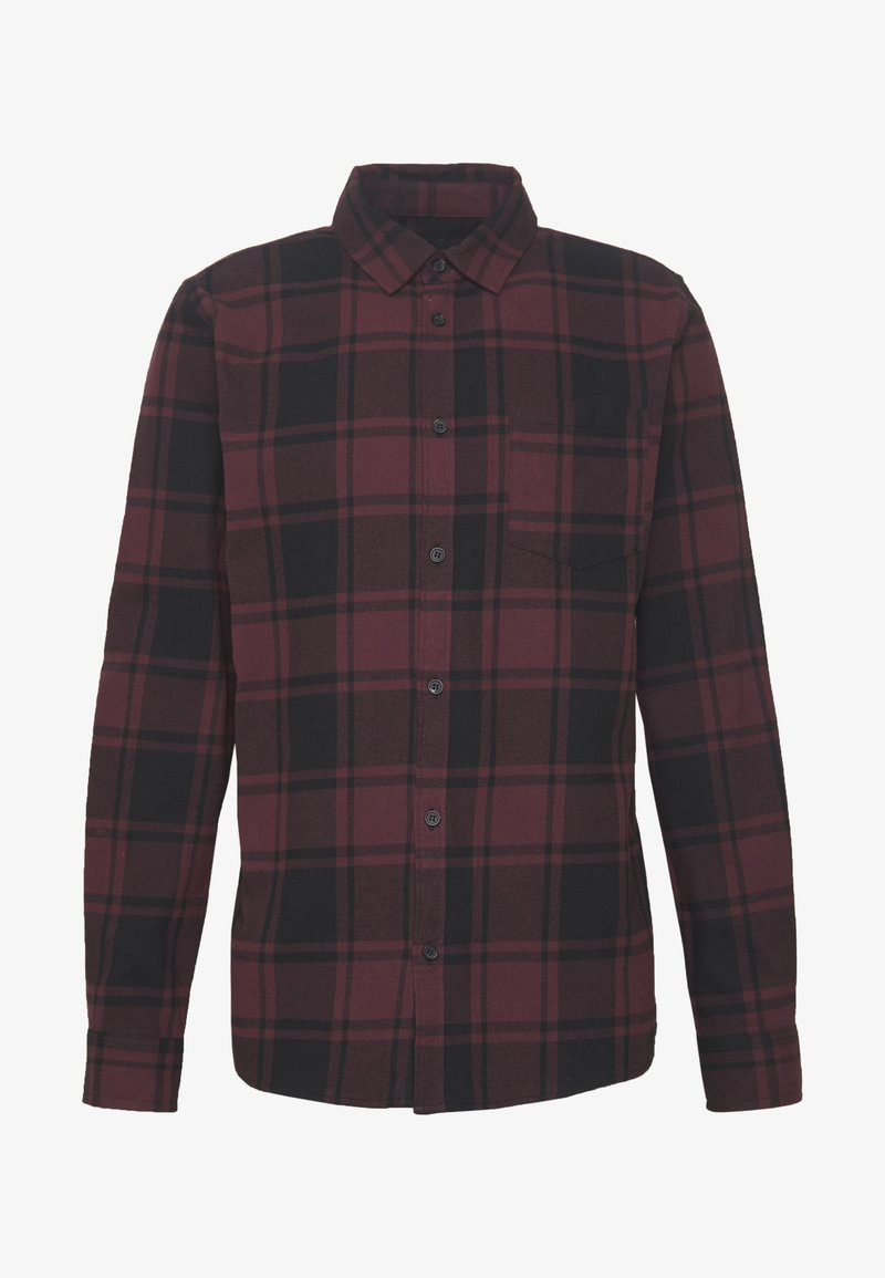 Cotton On RUGGED LONG SLEEVE - Skjorte - black burg check