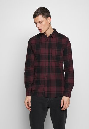 RUGGED LONG SLEEVE - Vapaa-ajan kauluspaita - black burg check