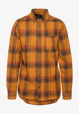 RUGGED LONG SLEEVE - Camicia - burnt orange check