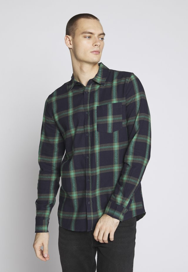 RUGGED LONG SLEEVE - Skjorter - navy/green