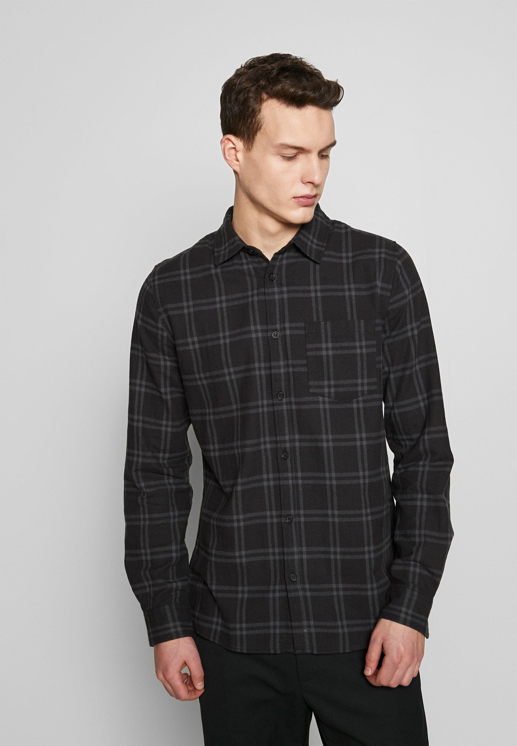 Cotton On RUGGED LONG SLEEVE - Koszula - black grey