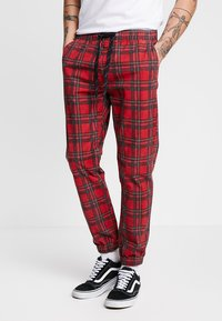 Cotton On - DRAKE CUFFED PANT - Tygbyxor - red - 0