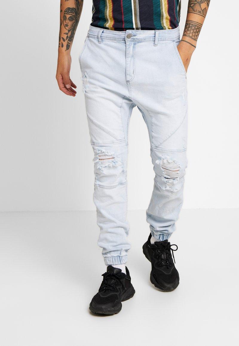 Cotton On - Slim fit jeans - bleached indigo moto