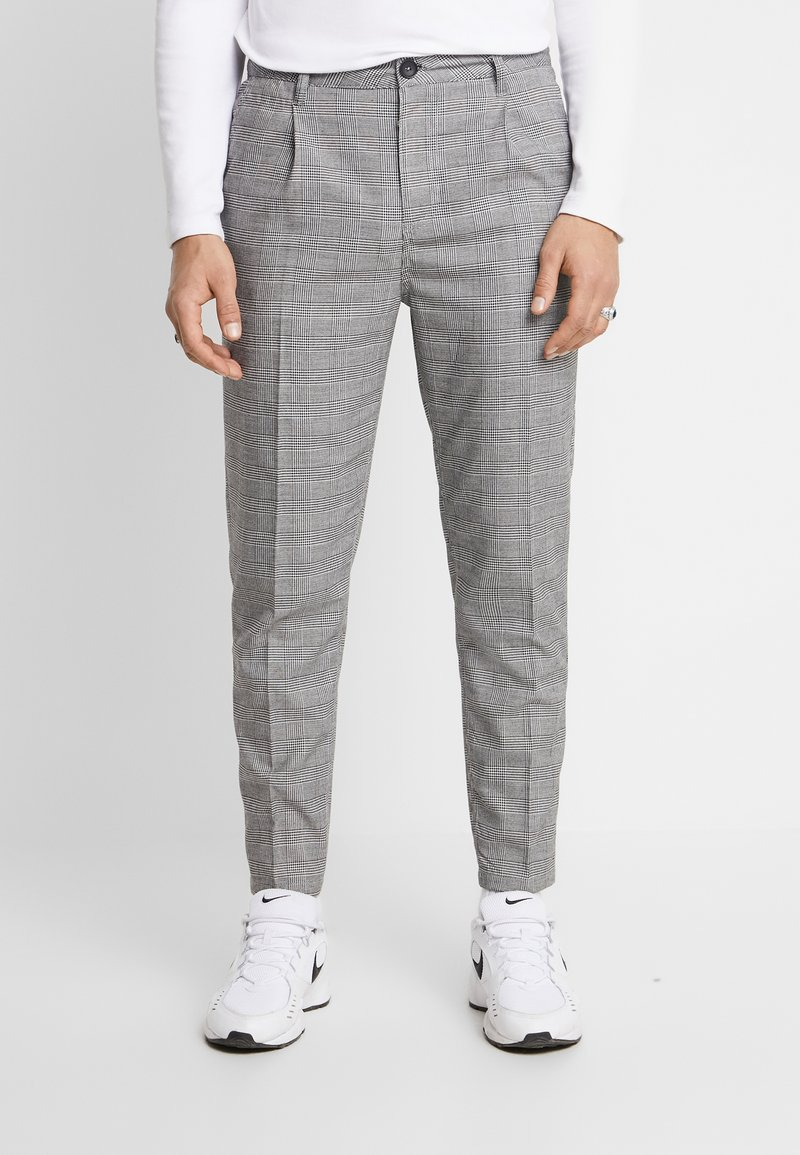 Cotton On - OXFORD TROUSER - Trousers - black prince of wales