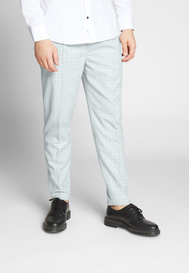 OXFORD TROUSER - Kalhoty - light grey/white