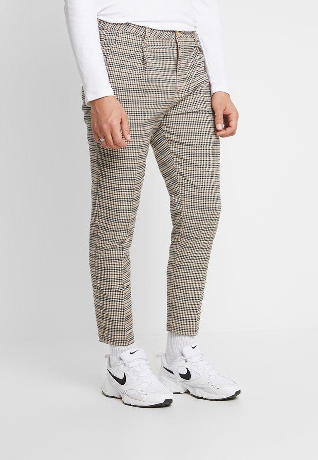 OXFORD TROUSER - Kalhoty - brown mini check
