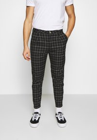 Cotton On - OXFORD TROUSER - Trousers - shadow check - 0