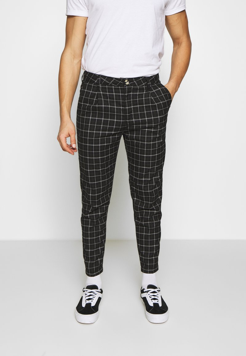 Cotton On - OXFORD TROUSER - Trousers - shadow check