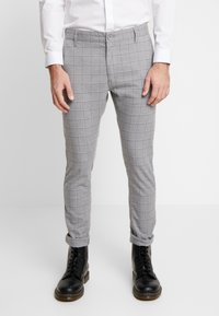 Cotton On - STRETCH CHECK - Broek - grey - 0