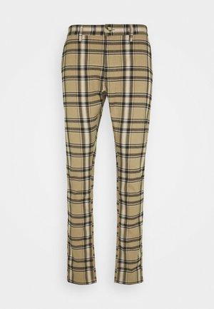 STRETCH CHECK - Pantaloni - butterscotch