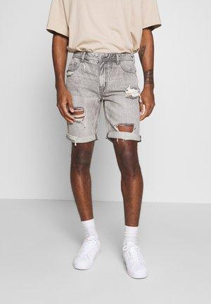 ROLLER - Denim shorts - grey