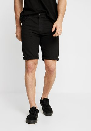 ROLLER - Denim shorts - rigid raven black