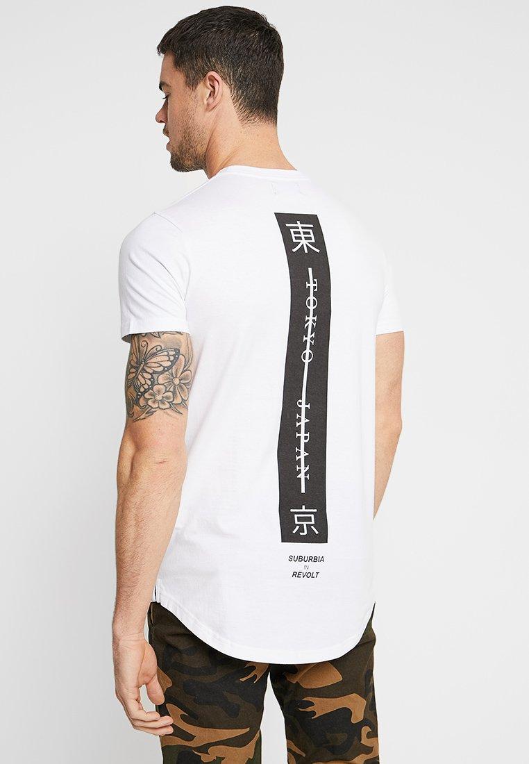 Cotton On LONGLINE SCOOP HEM TEE - T-shirt imprimé white