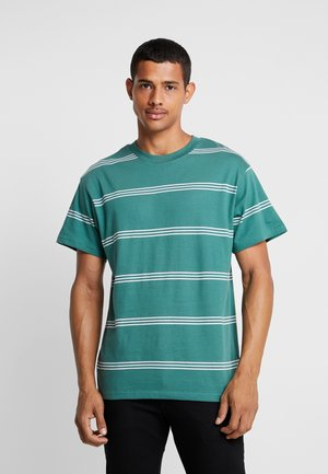 GRADUATE TEE - T-Shirt basic - khaki/white