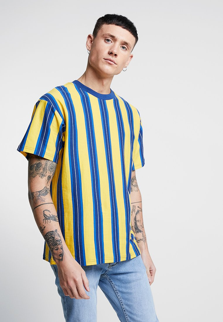 Cotton On - DOWNTOWN TEE - T-shirt print - safety yellow/limoges blue/blue delight