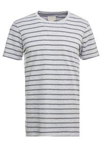 Cotton On - PREMIUM CREW - T-shirts med print - light grey marle/ink navy - 0