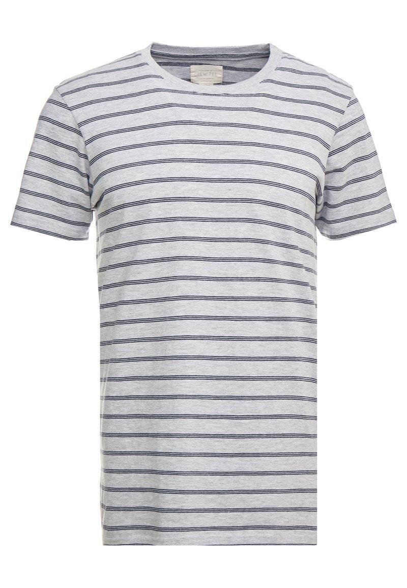 Cotton On - PREMIUM CREW - T-shirts med print - light grey marle/ink navy
