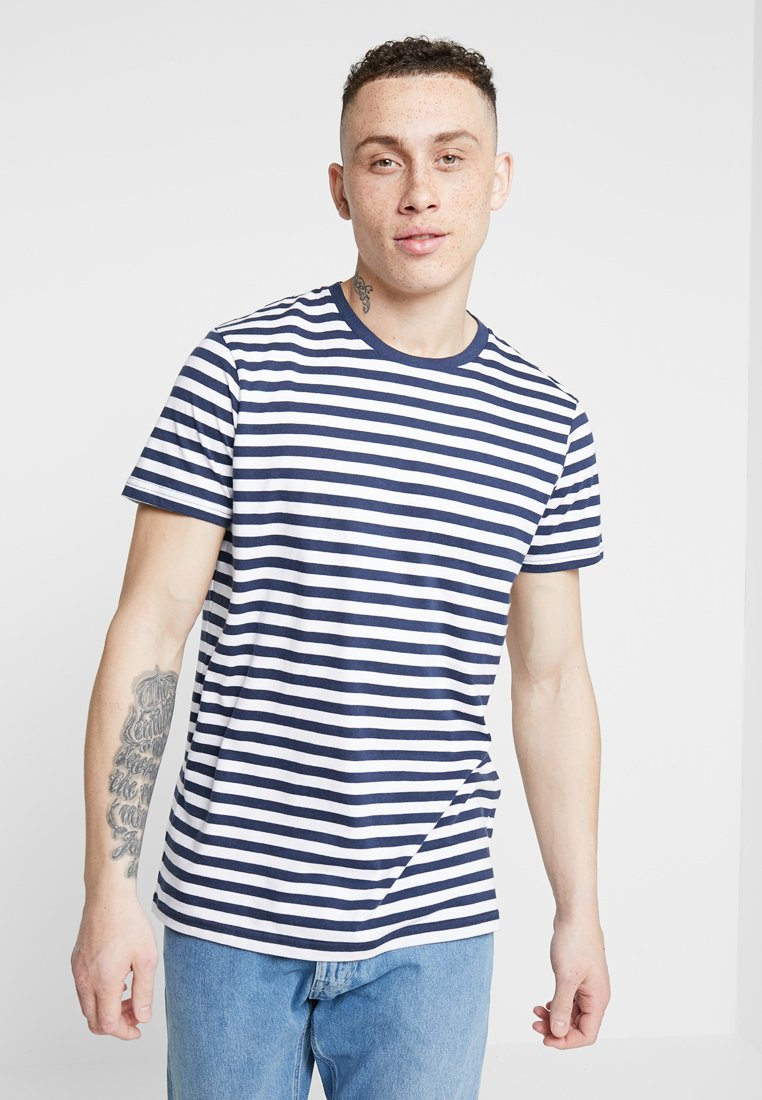 Cotton On - PREMIUM CREW - T-Shirt print - true navy/white