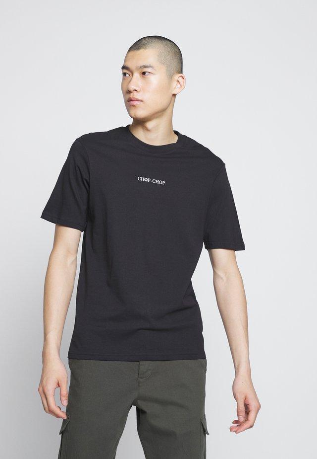 SOUVENIR - T-shirt z nadrukiem - black/chop chop
