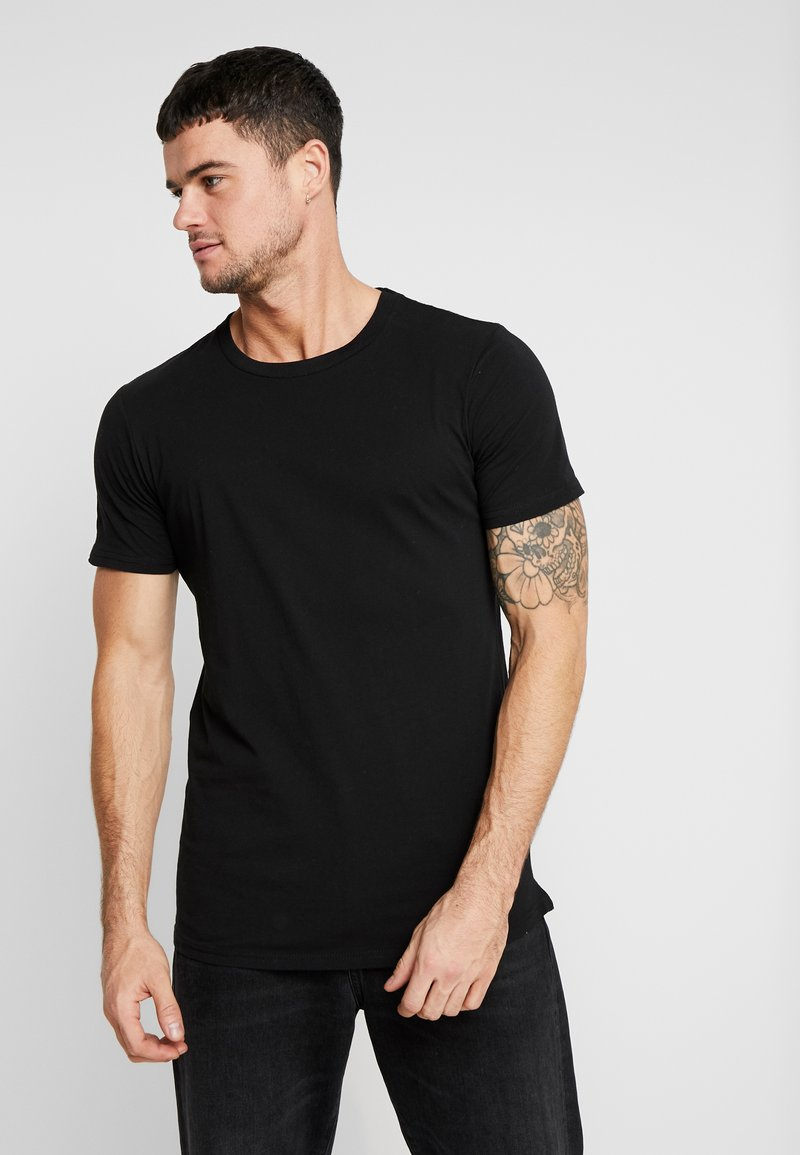 Cotton On - ESSENTIAL LONGLINE CURVED HEM - T-shirt basique - black