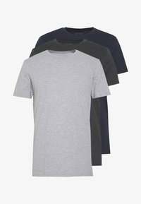 grey marle/ true navy/ charcoal marle