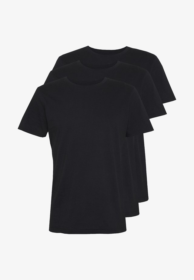 ESSENTIAL TEE 3 PACK - T-shirt basic - black