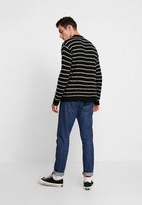 Cotton On - BOX CREW - Trui - black white stripe - 2