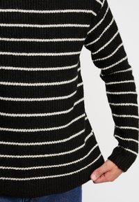 Cotton On - BOX CREW - Trui - black white stripe - 3