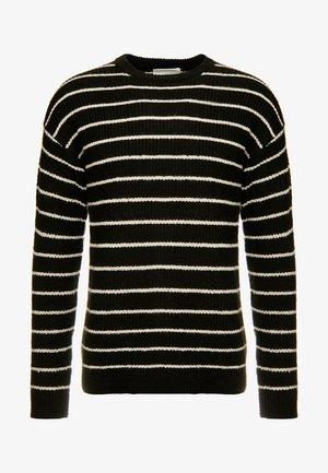 BOX CREW - Pullover - black white stripe