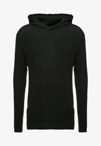 Cotton On - NU HOODED WAFFLE KNIT - Neule - black marle - 4