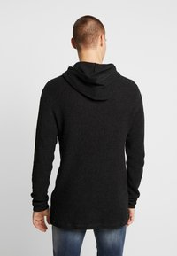 Cotton On - NU HOODED WAFFLE KNIT - Neule - black marle - 2