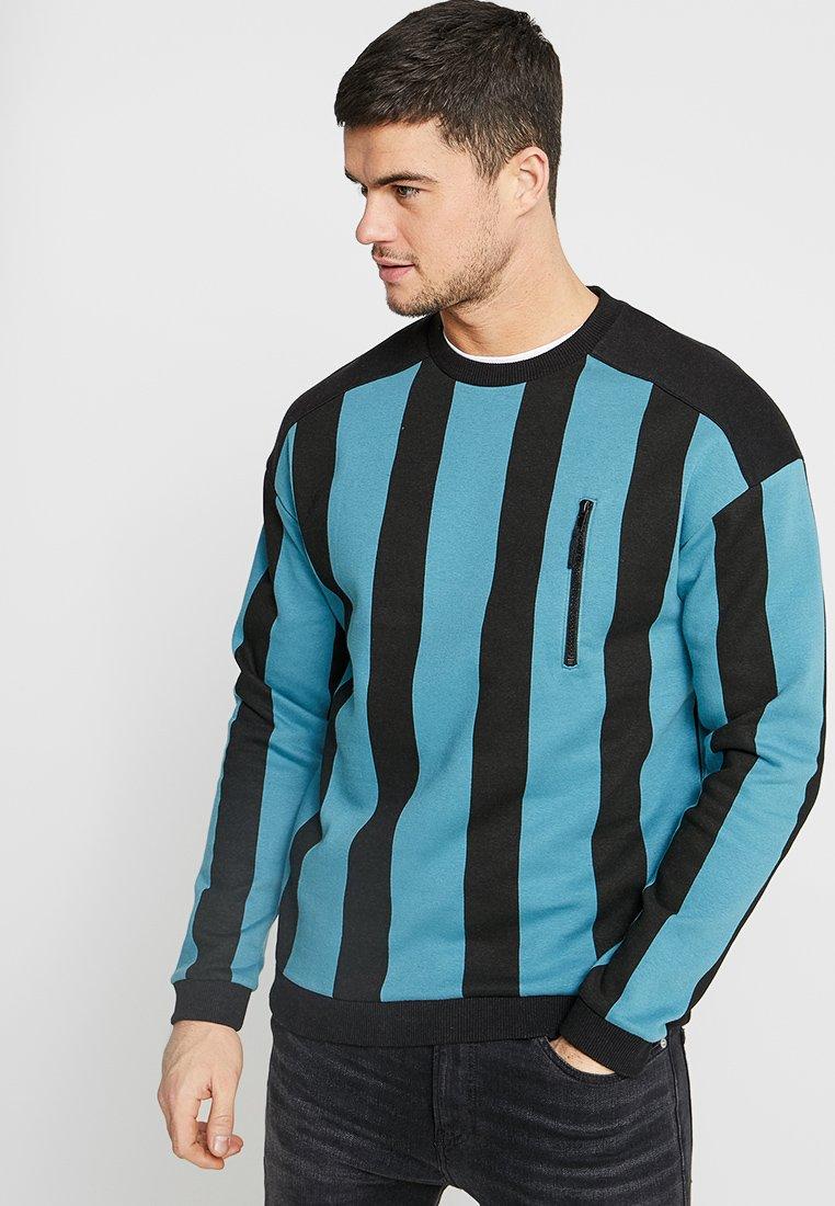 Cotton On - DROP SHOULDER CREW - Sweatshirt - ink navy/strong red/blue delight