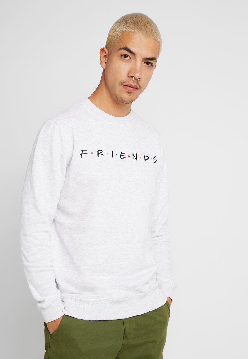 Cotton On - COLLAB CREW  - Sudadera - white marle/friends