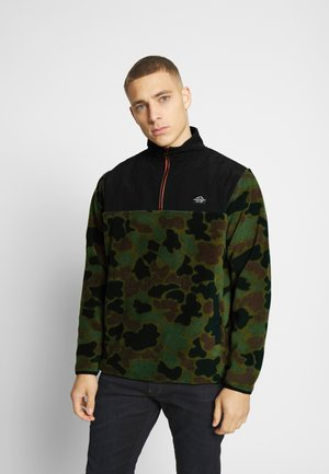 QUARTER ZIP POLAR - Fleece trui - deep jungle
